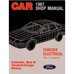 1987 MUSTANG THUNDERBIRD MARK VII COUGAR Service Manual Automotive