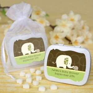 Baby Elephant   Personalized Mint Tin Baby Shower Favors Baby