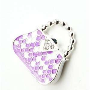 Shiny 8GB Crystal Purple Hangbag Style USB Flash Drive Electronics