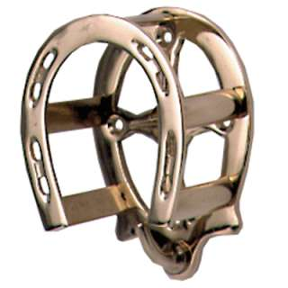 Brass Bridle Rack Horse Shoe Style