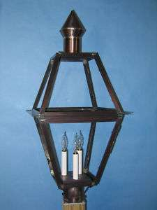 Outdoor Lighting, Post Lantern, Pointed Cone Top, Large
