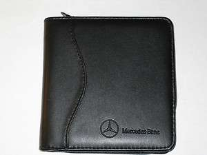 Original Mercedes Benz Leather CD DVD Disk Case Wallet  Holds 18+ CDs