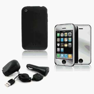 5 Item Accessories Combo for Apple iPhone 3G (Black