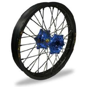 Pro Wheel MX Rear Wheel Set   19x1.85   Black Rim/Blue Hub