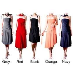 Evanese Womens Adjustable Jersey Tube Dress