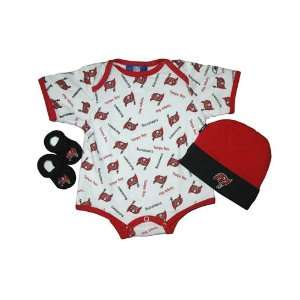 Tampa Bay Buccaneers Newborn NFL Hat, Bootie, and Onesie