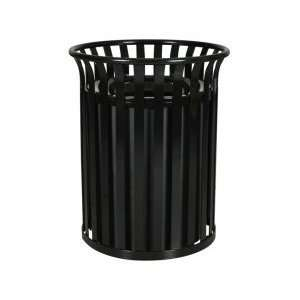 Heavy Duty Steel Trash Receptacle Hunter Green