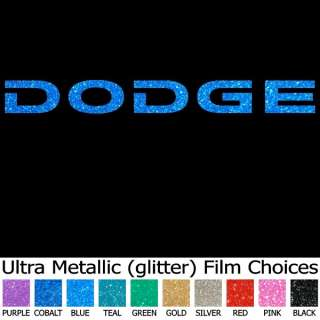 Logo Ultra Metallic Bling 9 Auto Car Truck Window Sticker Decals