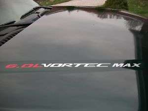 VORTEC MAX 6.0L Chevy Silverado GMC Sierra HD SS Decal