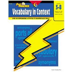 5 Pack CREATIVE TEACHING PRESS VOCABULARY IN CONTEXT GR 5