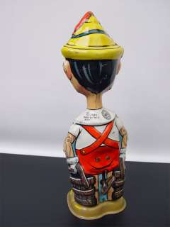 1939 Marx Walt Disney Pinocchio Wind Up Tin Toy Walker