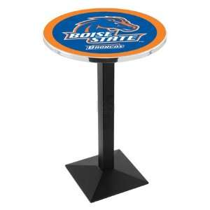 42 Boise State Bar Height Pub Table   Square Base   NCAA