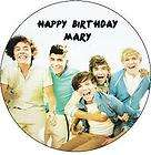 ONE DIRECTION EDIBLE CUSTOM ICING BIRTHDAY CAKE DECORATION IMAGE PARTY