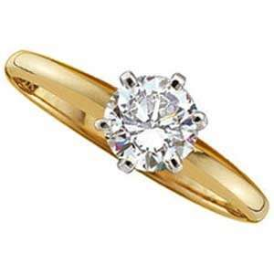 14Kt Yellow Gold Solitaire Diamond Ring Jewelry Days