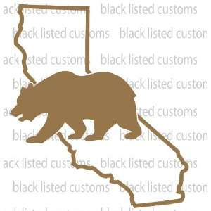 California State Bear COPPER Vinyl Decal Sticker CUSTOM