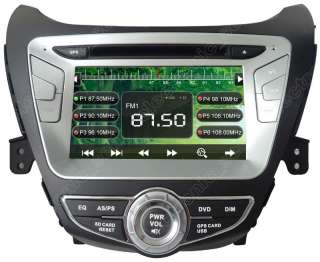 Radio Car GPS Navigation DVD Player For Hyundai Elantra 2012