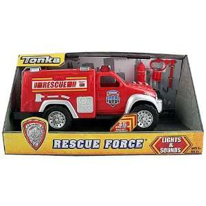 Tonka Lights and Sounds Rescue Force Red Fire Truck Toys