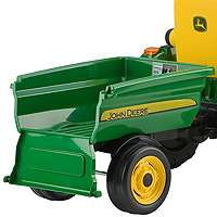 John Deere Turf Tractor with Trailer   Peg Perego