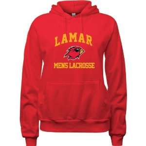 Lamar Cardinals Red Womens Mens Lacrosse Arch Hooded