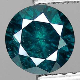70cts,5.5mm Round Fancy Blue Natural Loose Diamond