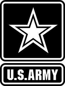 Big U.S. US Army Logo Wall Mural Vinyl Decal Sticker