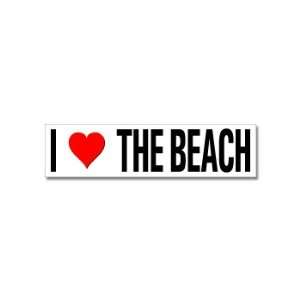 I Love Heart The Beach   Window Bumper Stickers