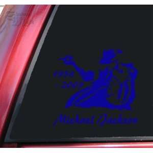 Michael Jackson 1958   2009 Vinyl Decal Sticker   Blue