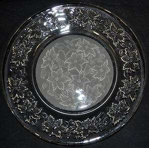 Princess House Fantasia 10 Round Glass Dinner Plate