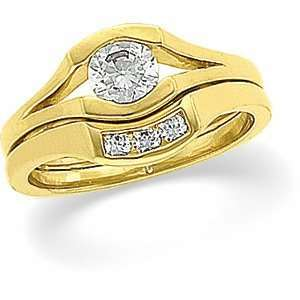 04.40 .06 CT TW 14K Yellow Gold Diamond Engagement Ring