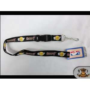 NBA Licensed L.a. Lakers   Black Detachable 25 Lanyard