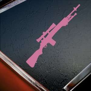 M21 Sniper Rifle M 21 7 Pink Decal Truck Window Pink