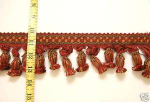 High Quality Tassel Fringe Trim Red Green Gold Beige