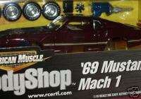 ERTL 1969 FORD MUSTANG MACH 1 BURGANDY MODEL KIT 1/18