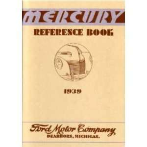 1939 MERCURY Full Line Owners Manual User Guide Automotive