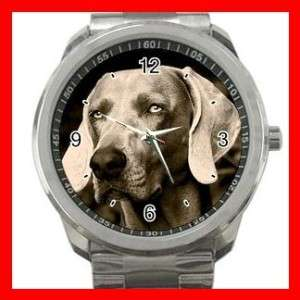 WEIMARANER GREY GHOST DOG Animals Sports Metal Watch