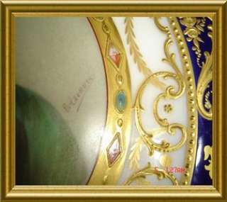 STUNNING MUSEUM QUALITY ROYAL VIENNA JEWELED PORTRAIT SIGNED PLATE