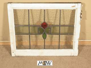Antique Lead Glazed Stained Glass Window (BAL90 24)