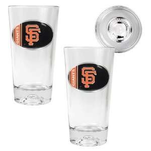 San Francisco Giants MLB 2pc Pint Ale Glass Set with