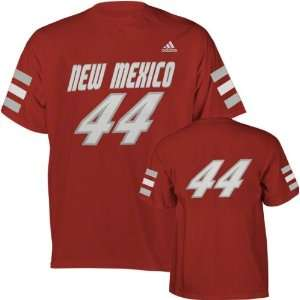 New Mexico Lobos Red adidas #44 Football Jersey T Shirt