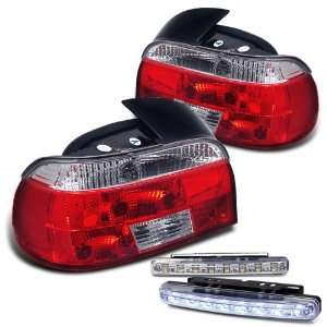 97 00 BMW E39 5 series Tail Lights + LED Bumper Fog Set Automotive