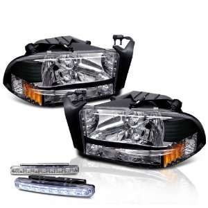 03 Dakota Chrome Head Lights+led Bumper Fog Lamp Pair Set Automotive