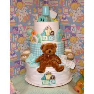 3 Tier ABC Baby Diaper Cake Toys & Games