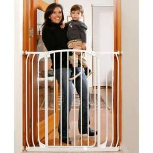 Baby L792W Extra Tall Hallway Swing Closed Saftey Gate in White Baby