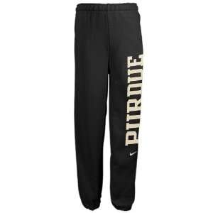 Boilermakers Youth Black Fleece Pants (X Large)