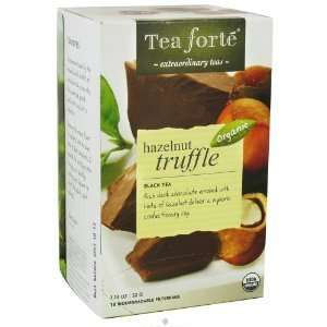 Tea Forte   Black Tea Organic Filterbags Hazelnut Truffle   16 Tea