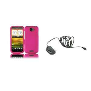One S (T Mobile) Premium Combo Pack   Hot Pink Hard Shield Case Cover