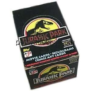 Jurassic Park Gold Trading Cards Box  Toys & Games