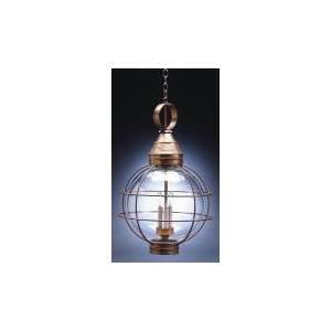 Outdoor Hanging Lantern in Dark Antique Copper with Frosted glass
