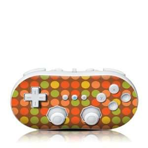 Brown Dots Design Skin Decal Sticker for the Wii Classic