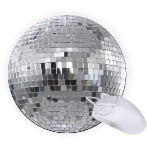 Rikki Knight® Disco Ball 8 Round Mouse Pad Mousepad   Ideal Gift for